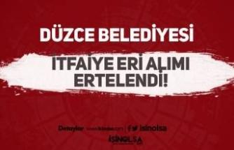 60 KPSS Puanı ile 20 İtfaiye Eri Alımı İlanı Ertelendi! ( Düzce Belediyesi )