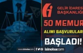 GİB 18 Farklı İlde 50 Memur Alımı Başvuru Ekranı Açıldı! ( Avukat Alımı )