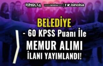 Pütürge Belediyesi 60 KPSS Puanı İle Memur Alımı Yapacak