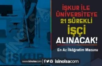 Türk-Alman Üniversitesi İlköğretim Mezunu İŞKUR İle 21 Sürekli İşçi Alımı