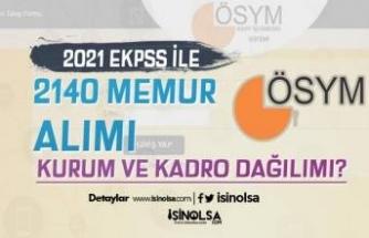 2021 EKPSS İle 2140 Memur Alımı Kadroları ve Kurum Dağılımı