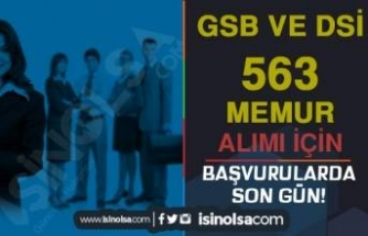 Hatırlatma: GSB ve DSİ 563 Memur Alımı Başvurularında Son Gün!