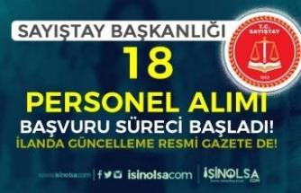 İlanda Güncelleme! Sayıştay Başkanlığı 18 Kamu Personeli Alımı Başladı!