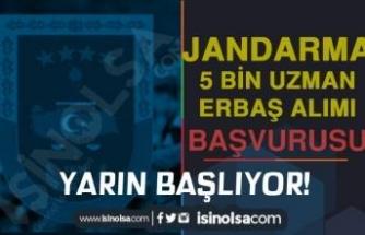 Jandarma 5 Bin Uzman Erbaş Alımı Başvurusu Yarın Başlıyor! En Geç 31 Ocak
