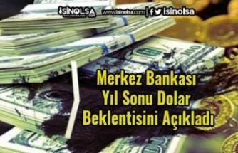Merkez Bankası Yıl Sonu Dolar Beklentisini Açıkladı