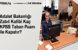 Adalet Bakanlığı Zabıt Katibi Kaç KPSS Taban Puanı ile Kapatır?