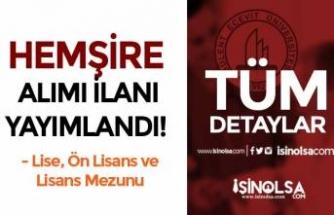 Bülent Ecevit Üniversitesi 23 Hemşire Alımı Yapacak! Lise, Ön Lisans ve Lisans