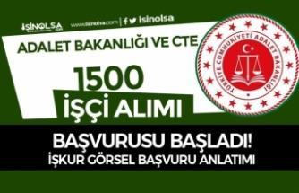 Adalet Bakanlığı ve CTE İŞKUR İle 1500 İşçi Alımı Başladı! Görsel Başvuru Adımları