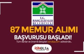 Bahçelievler Belediyesi 60 KPSS İle 83 Memur Alımı Başvuru Formu