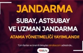Jandarma Subay, Astsubay ve Uzman Jandarma Atama Yönetmeliği Yayımlandı!