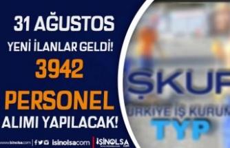 31 Ağustos Yeni TYP İlanları Geldi! İŞKUR İle MEB Okullara 3942 Personel Alımı
