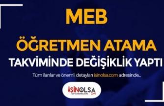 MEB 2021 Sözleşmeli Öğretmen Atama Takviminde Değişiklik Yaptı