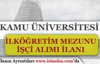 Giresun Üniversitesi İlköğretim Mezunu 6 Personel Alımı Yapıyor