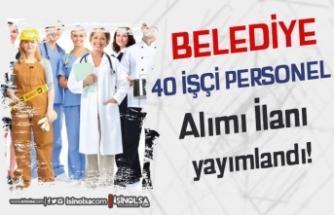 Karabağlar Belediyesi İŞKUR İle 40 İşçi Personel Alımı Yapacak