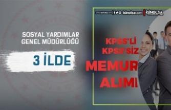 Sosyal Yardımlar SYDV 3 İlde 10 Memur ve Personel Alımı İlanı Yayımlandı