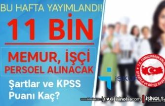 Bu hafta SBB ve İŞKUR Yayımladı! 11 Bin Memur, Personel, İşçi Alınacak