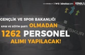 GSB 42 Şehirde 1262 Personel Alımı İlanı Yayımlandı! KPSS ve Eğitim Şartı YOK!