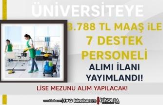 Gümüşhane Üniversitesi 3.788 TL Maaş İle Lise Mezunu 7 Temizlik Personeli Alımı