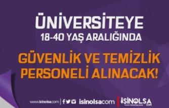 İzmir Demokrasi Üniversitesi 8 Güvenlik ve Temizlik Personeli Alımı İlanı