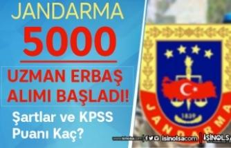 Jandarma 2022 Yılı 5000 Uzman Erbaş Alımı Başladı! KPSS Taban Puan Kaç?
