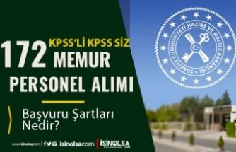 Maliye Bakanlığı KPSS'li KPSS siz 172 Memur Personel Alımı Yapacak