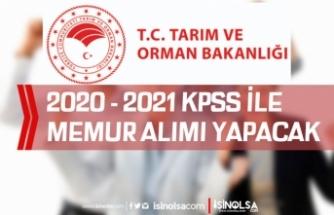 Tarım Bakanlığı RTB Memur Alımı ( Müfettiş Yardımcısı ) 2020/ 2021 KPSS İle