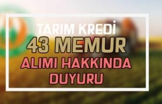 Tarım Kredi İzmir Bölge Birliği Memur Alımı Sonuçları Açıklandı