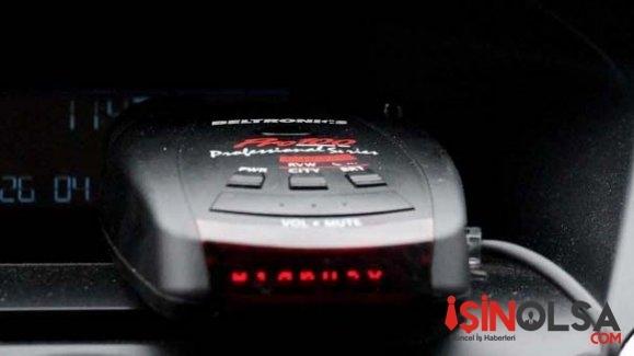 Aracında radar tespit cihazı bulundurdu 1800 lira ceza yedi