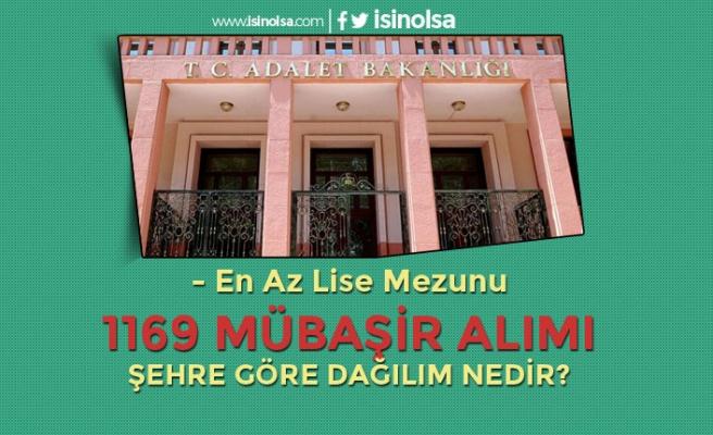 Adalet Bakanlığı 1169 Sözleşmeli Mübaşir Alımı! Şehre Göre Dağılım