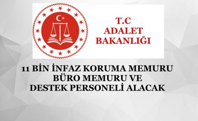 Adalet Bakanlığı 11 Bin İnfaz Koruma, Büro Memuru ve Destek Personeli Alacak