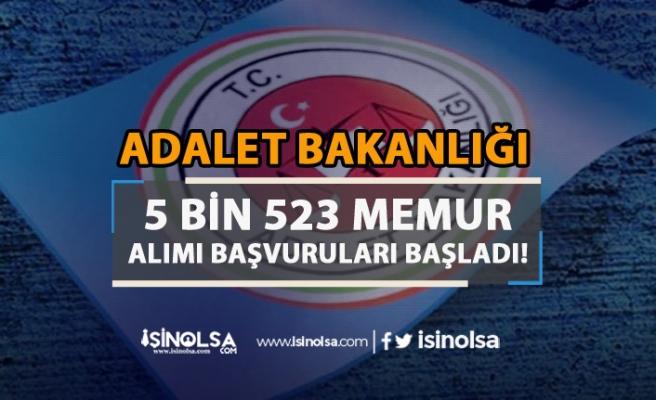 Adalet Bakanlığı 5 Bin 523 Memur Alımı Başladı! Nasıl Başvuru Yapılır?