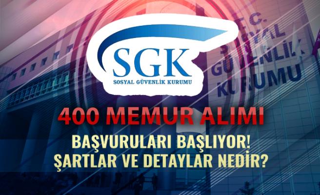 Sosyal Güvenlik Kurumu ( SGK ) 400 Memur Alımı Başlıyor!