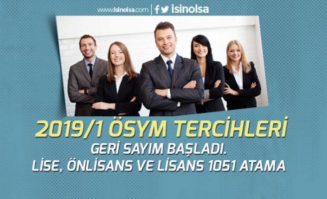 2019/1 KPSS Tercihleri İçin Geri Sayım! ÖSYM Tercih Kılavuzunda 1051 Kontenjan!