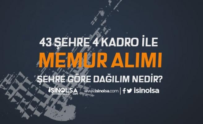 Adalet Bakanlığı'na 43 Şehirde 4 Kadro İle Memur Alımı Yapılıyor!