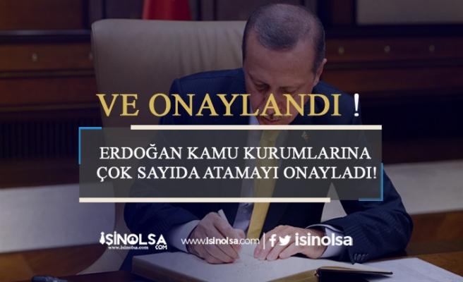 Erdoğan Kamu Kurumlarına Çok Sayıda Atamayı Onayladı