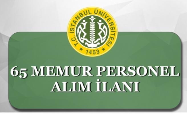 İstanbul Üniversitesi ( İÜC) 65 Memur Personel Alımı Kadro Dağılımı! KPSS'li KPSS'siz