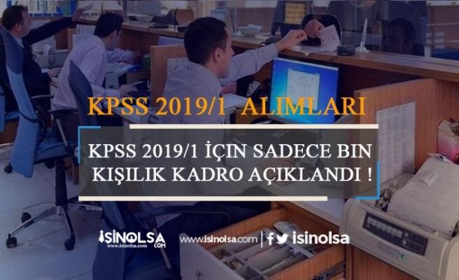 KPSS 2019/1 İle Sadece 1000 Memur Alınacak!