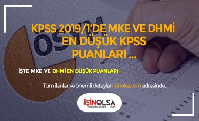 KPSS 2019/1'de MKE ve DHMİ Memur Alımında En Düşük KPSS Puanları