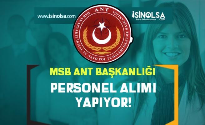 MSB ANT Başkanlığı İŞKUR'da Kamu Grubu Personel Alım İlanı Yayımladı!