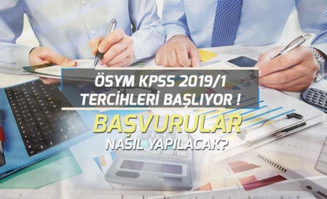 ÖSYM 2019/1 KPSS Tercihleri Başlıyor! Tercih Kılavuzu, Başvuru Şartları!