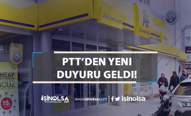 PTT'den Personelle İlgili yeni Duyuru! 2019 Nakil Sonuçları