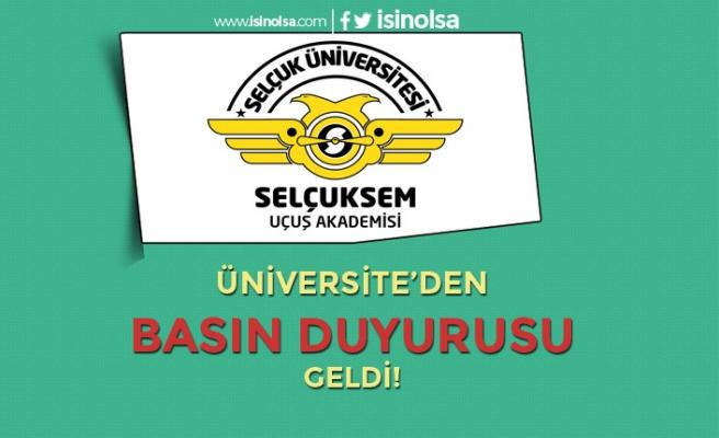Selçuk Üniversitesi Uçuş Akademisi Pilot Eğitimi İçin Duyuru Yaptı!