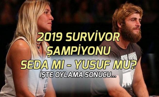 Survivor 2019 Şampiyonu Belli Oldumu Seda mı? Yusuf mu Şampiyon!  Oylama Sonucu!