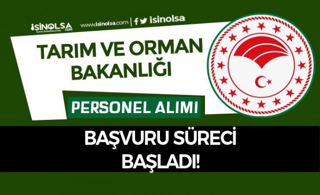 Tarım ve Orman Bakanlığı Sözleşmeli Personel Alımı Başvuruları Başladı!