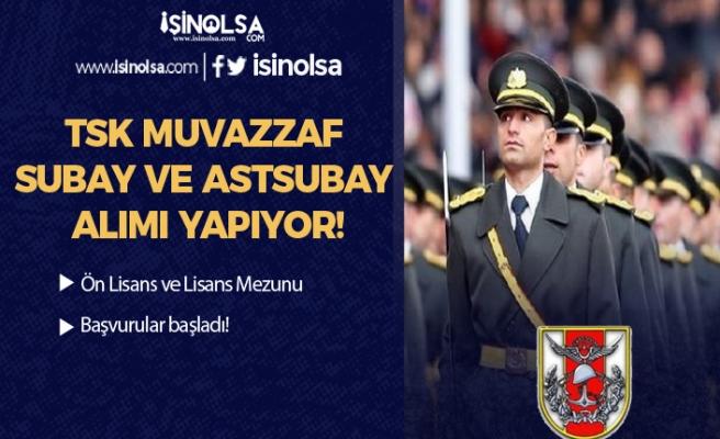 TSK Muvazzaf Subay ve Astsubay Alım İlanı! Başvurular Başladı!