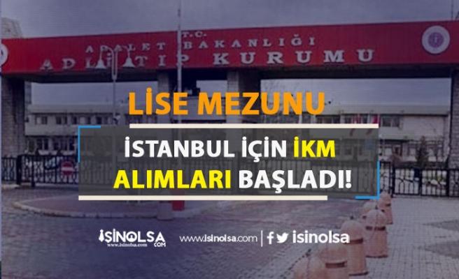 İstanbul Lise Mezunu İnfaz Koruma Memuru ( İKM ) Alımı Başvuruları Başladı!