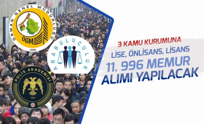 Adalet Bakanlığı, Tarım Bakanlığı, Polis Akademisi 11 Bin 996 Memur Alımı Yapacak!
