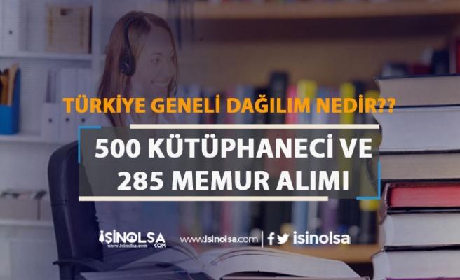 Kamuya 500 Kütüphaneci ve 285 Memur Alımı Yapılacak! Şehre Göre Dağılım?