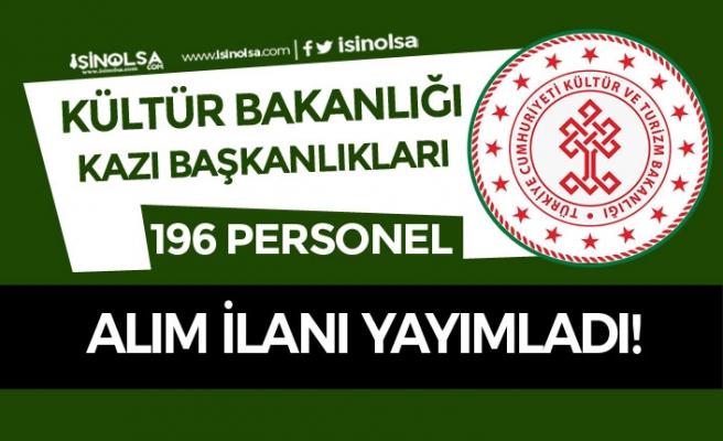 Kültür Bakanlığı KPSS Şartı Olmadan 196 İşçi Personel Alımı Yapıyor