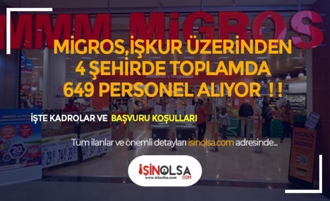 Migros Marketler Zinciri 4 Şehirde 649 Personel Alıyor